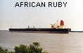 AFRICAN RUBY  IMO9050278